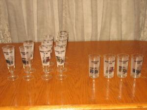Antique Car Glasses - 14-pce set