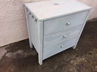 Shabby chic project chest of drawers blue can deliver Ikea pine