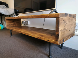Reclaimed Wood TV Stand in Dark Oak