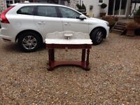 Victorian mahogany wash stand with marble top circa 1860