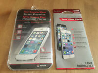 iphone 5/5s tempered glass and screen protector