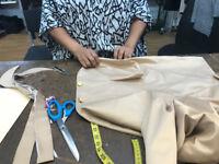 Couturière sur place, rapide et efficace - Bord de pantalons