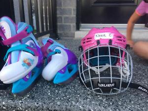 casque pour hockey et patins