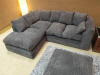 Brand New Lush Dylan Fabric Corner or 3 & 2 Sofa Suite Settee Couch CHOICE OF COLOURS, FREE DELIVERY