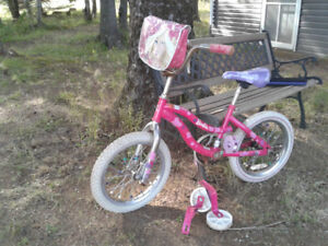 Girls 16 inch Barbie  Bicycle