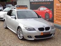 BMW 5 SERIES 2.0 520D M SPORT 4dr AUTO Silver Auto Diesel, 2007
