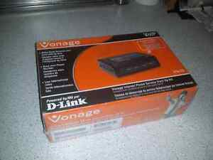 D-Link Vonage VoIP internet phone service start-up kit