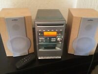 Panasonic stereo with AUX fully working - wood effext
