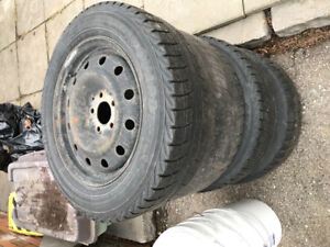 """Set of 4 16"""" rims from a 2010 jeep compass"""