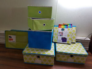 Storage boxes - material covered