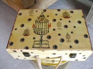 DECORATIVE WOOD SUITCASE BOX