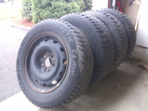Winter tires with rims 215/65 R16, 5x114.3 bolt pattern