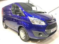 2016 FORD TRANSIT CUSTOM TREND 2.2TDCi 125PS L1H1 SWB LOW MILEAGE 13,000 BLUE