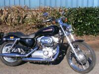 Harley-Davidson XL883C 2008 low miles black & chrome, custom low rider MOT, p/ex