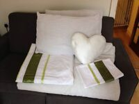 Double bedding - freshly cleaned