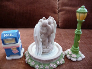 Cherished Teddies Accessories-Lamp Post, Fountain, Mail Bx-CT983 London Ontario image 2