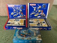3 metal meccano sets