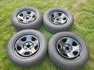 """18"""" steel police rims and winter tires"""