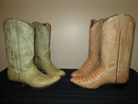 EXOTIC MENS COWBOY  BOOTS SIZE 11 TO 12