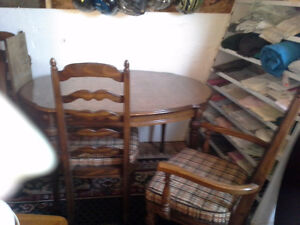 2 dining table sets with chairs $100. a set oak set $150
