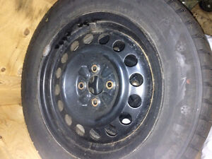 Set of Winter Tires on Rims for sale Kitchener / Waterloo Kitchener Area image 1
