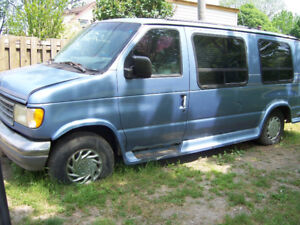 as is  for parts 1998 ford econoline van