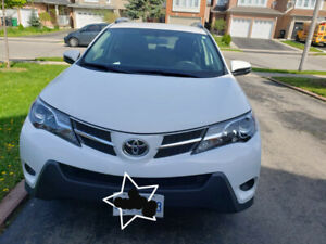 Lady- driven White 2015 Toyota RAV4 LE