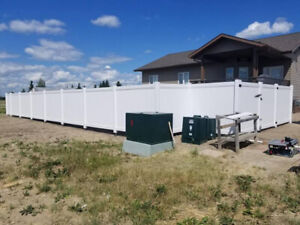 Premium White Full Privacy Vinyl Fence Only $32/Foot
