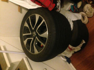 2015 Honda Civic Rims + Tires ***BRAND NEW - MINT CONDITION****