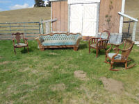 ANTIQUE LIVING ROOM SET circa 1904/14 - made in New York