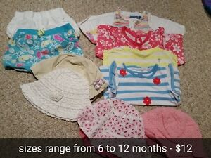 Girls 6 months clothing