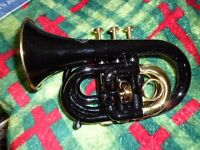 Jupiter - Pocket Trumpet - Black $600, New Price $900 with taxes