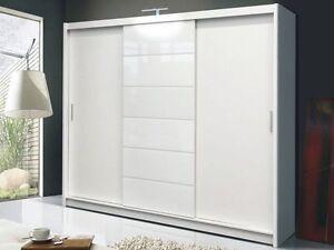 large sliding door wardrobes ebay