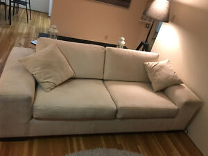 Light cream 3 seater couch