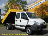 2007/ 57 Iveco Daily 65c18 Crew Cab Tipper 7-seat 6.5t gross 3.0hpt