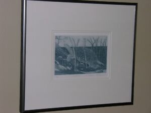 MICHAEL ROBINSON signed print- Snapper Framed.  73/99.