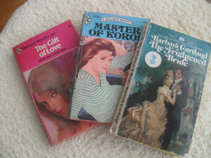 THREE OLD HARLEQUIN ROMANCE NOVELS from the '70's