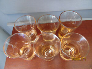 VINTAGE CRYSTAL AND GLASS SERVING PIECES, SHOTGLASSES