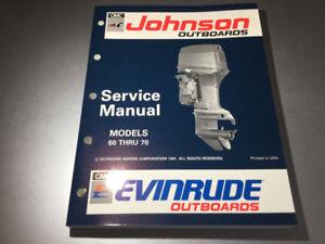 1992 Johnson Evinrude Outboards EN 60 65 70 HP Shop Manual 3 cyl