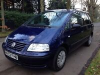 Volkswagen Sharan 1.9TDI 1lady owner from new 12 months mot