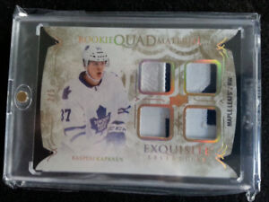 TORONTO MAPLE LEAFS KASPERI KAPANEN QUAD ROOKIE MATERIAL 3/5
