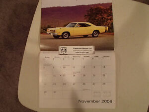 New 2009 DODGE MUSCLE CARS CALENDAR                       x2 Sarnia Sarnia Area image 8