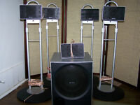 Sony 5.1 Speaker System With Metal Stands