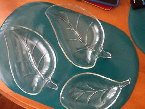 Vintage Glass nut/candy dishes
