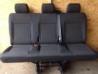 Vw transporter t6 t5 rear triple quick release seats