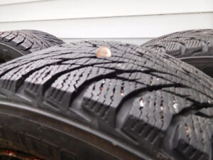 205 / 55 / 16 Nokian Winter tires with rims
