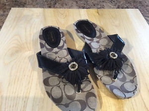 Brand new size 6 COACH sandals $40 FIRM