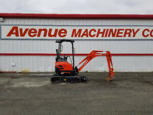 Kubota U17-HGS Excavator with Rubber Canopy