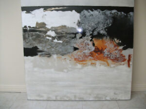 INCROYABLE TABLEAU ABSTRAIT-TOILE-CADRE RENWIL