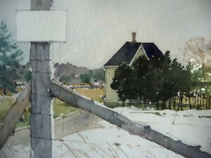 """Early Spring """"Near Eckhardts Corners, Stouffville, Watercolor Stratford Kitchener Area image 8"""